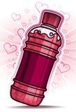 Liefde op smaak gebrachte soda Royalty-vrije Stock Foto