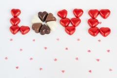 Liefde op witte achtergrond Stock Foto's