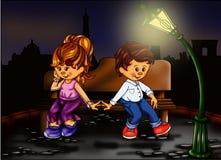 Liefde in Parijs stock illustratie