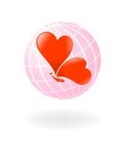 Liefde-planeet. Vector-illustratie vector illustratie
