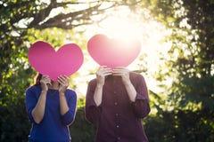 Liefde, Romaanse en Valentine Concept-idee Royalty-vrije Stock Foto's