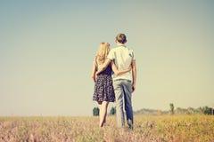 Liefde, Romaanse, toekomstige, de zomervakantie, en mensenconcept Stock Foto's