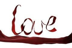 Liefde rood lint Royalty-vrije Stock Foto
