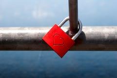 Liefde-slot royalty-vrije stock afbeelding