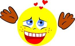 In Liefde Smiley Smiley in de zevende hemel van liefde stock afbeelding