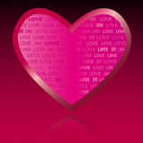 Liefde u de Dag van Valentijnskaarten Stock Foto