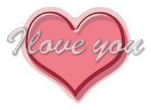 Liefde u hart vector illustratie