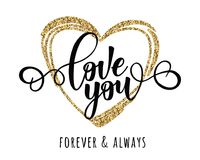 ` Liefde u inspirational van letters voorziende de motivatieaffiche van ` Royalty-vrije Stock Afbeeldingen