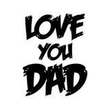 Liefde u papa De Vectorillustraties van de vader` s dag stock foto