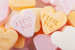 Liefde u suikergoedharten Royalty-vrije Stock Afbeelding