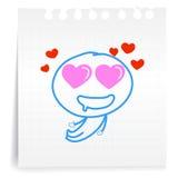 Liefde u zo het document van mach cartoon_on Nota Royalty-vrije Stock Fotografie