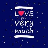 Liefde u zo veel het ontwerp vectorteken van het liefdesymbool u achtergrond Stock Foto