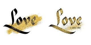 Liefde, uitstekende kalligrafie Royalty-vrije Stock Fotografie
