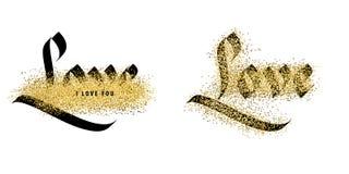 Liefde, uitstekende kalligrafie Royalty-vrije Stock Afbeelding