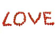 Liefde van aardbeien Royalty-vrije Stock Fotografie