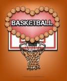 Liefde van basketbal Stock Afbeelding