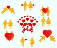 Liefde van de mens en vrouw Royalty-vrije Stock Foto