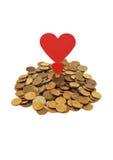 Liefde van geld Stock Foto's