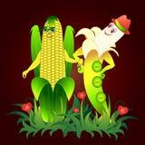 Liefde van groenten en fruit vector illustratie