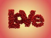 Liefde van kleine glanzende harten (het knippen weg) Stock Foto