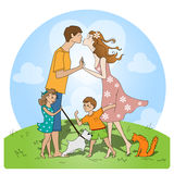 Liefde van ouders Royalty-vrije Stock Afbeeldingen