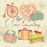 Liefde van reisachtergrond royalty-vrije illustratie