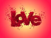 Liefde van rozen in warme kleuren Royalty-vrije Stock Afbeeldingen