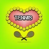 Liefde van tennis Stock Fotografie