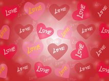 Liefde vectorachtergrond Stock Foto's