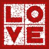 Liefde in vierkant Stock Afbeeldingen