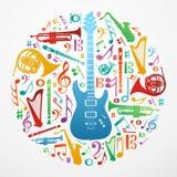 Liefde voor de illustratieachtergrond van het muziekconcept Royalty-vrije Stock Afbeeldingen