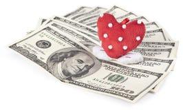 Liefde voor geld Stock Foto's