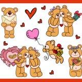Liefde voor teddybeer vastgestelde digitale elementen Royalty-vrije Stock Foto