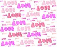 Liefde voor valentijnskaart Royalty-vrije Stock Afbeeldingen