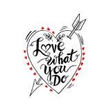 Liefde wat u doet stock illustratie