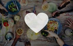 Liefde zoals Toewijding Joy Life Concept van de Hartstochts de Romantische Affectie royalty-vrije stock foto
