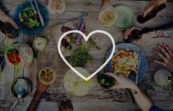Liefde zoals Toewijding Joy Life Concept van de Hartstochts de Romantische Affectie stock afbeeldingen