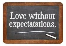 Liefde zonder verwachtingen Stock Afbeeldingen