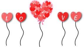 Liefdeballon Stock Afbeeldingen