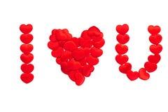 Liefdebericht op witte achtergrond Royalty-vrije Stock Afbeelding