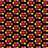 Liefdeconcept - het behangillustratie van het hartenpatroon Stock Fotografie