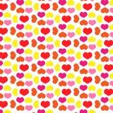 Liefdeconcept - het behangillustratie van het hartenpatroon Royalty-vrije Stock Foto