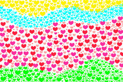 Liefdehart Valentine Background Stock Afbeelding
