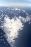 Liefdehart van wolken Royalty-vrije Stock Foto's