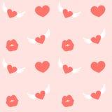 Liefdeharten voor de Dag Naadloos Patroon van Valentine Stock Afbeeldingen