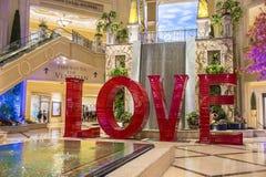 LIEFDEinstallatie in Las Vegas Venetiaan Royalty-vrije Stock Afbeeldingen
