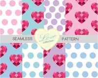 Liefdeinzameling - Reeks van 8 naadloos patroon set1 Vector Illustratie