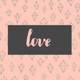 In liefdekaart Royalty-vrije Stock Foto's