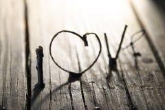 LIEFDEkaart, Valentijnskaartendag, vaag beeld voor de achtergrond Stock Fotografie