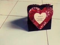 Liefdekalender met citaat Stock Afbeeldingen